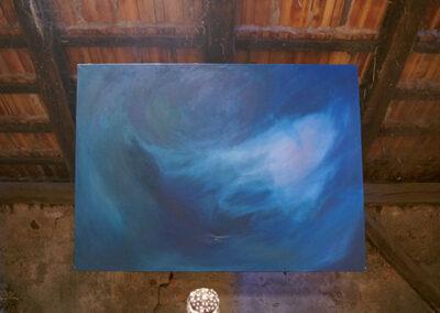 Swantje Ahlrichs – Blau (Ausstellungsansicht) – 2014 – Öl auf Leinwand – 90 x 125 cm