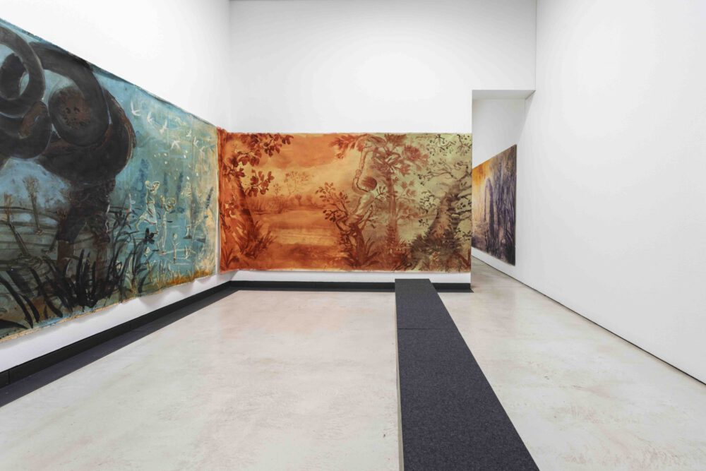 Christian Macketanz - Ansicht Lipsius-Bau, Dresden - 2019/20 - Mischtechnik auf Leinwand - je 2,1 x 10 m
