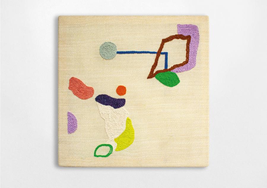 Nadine Glas - T002 - 2020 - Wolle auf Mischgewebe - 52 x 52 cm