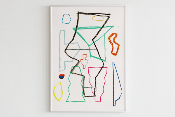 Nadine Glas - K009 - 2020 - Kreide auf Papier - 21 x 15 cm