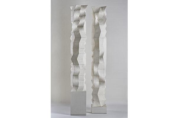 Tobias Stengel - Sudoku Skulpturen (# E1 & # 366) - 2017/18 - Gips - je 175 x 25 x 25 cm