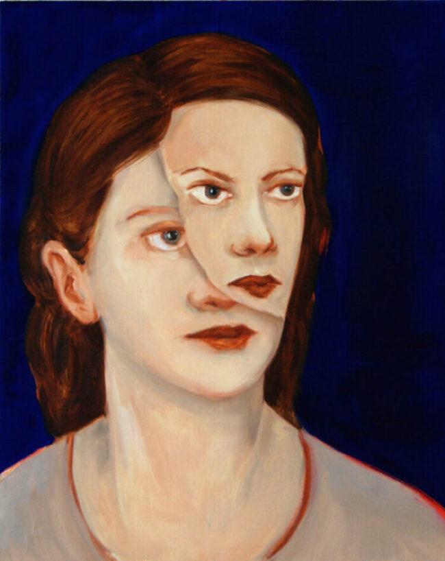 Katharina Baumgärtner - Doppelt - 2019 - Öl auf Leinwand - 50 x 40 cm