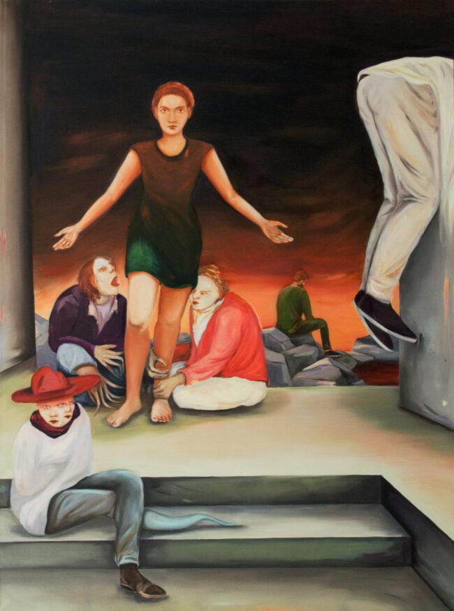 Katharina Baumgärtner - guess, I'm doing fine - 2017 - Öl auf Leinwand - 200 x 150 cm