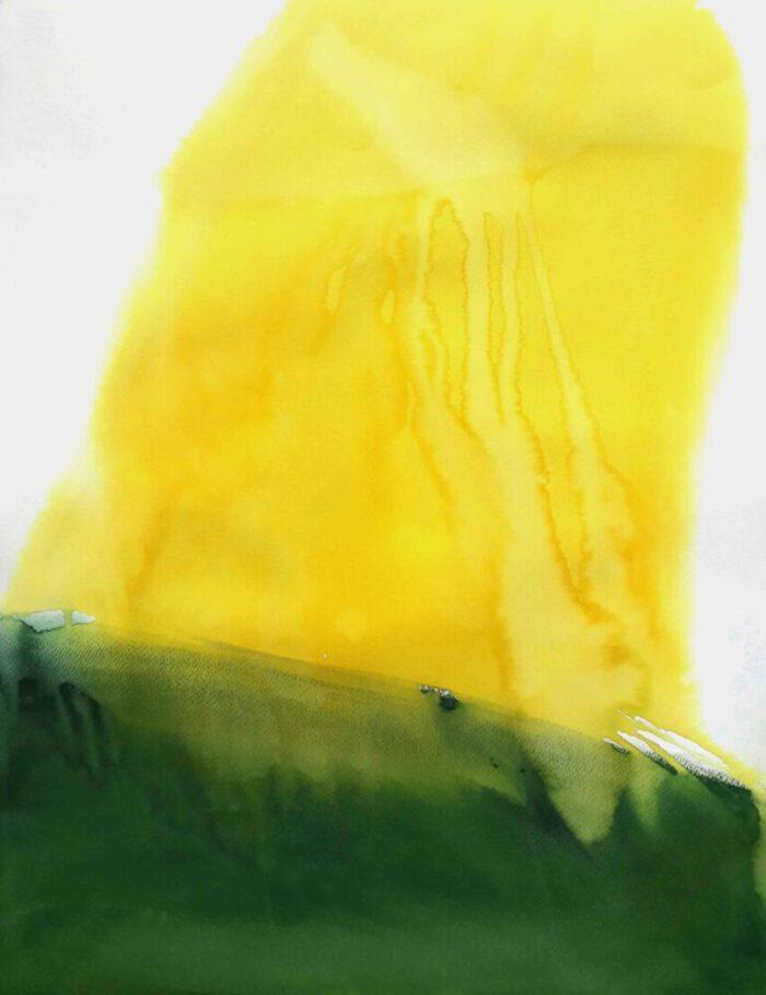 Johanna Failer - Yellow light (aus der Serie: Selva Mental) - 2019 - Aquarell und Gouache auf Papier - 60 x 42 cm