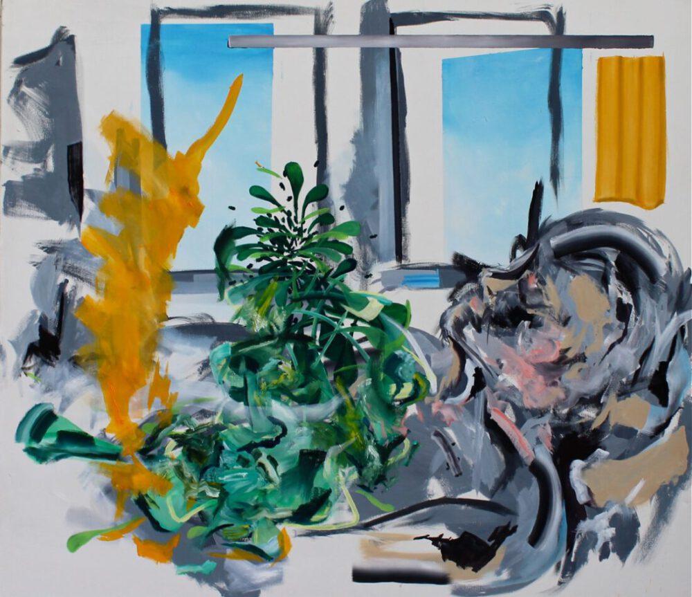 Lena Dobner - Schlafender - 2020 - Öl und Tempera auf Leinwand - 140 x 160 cm