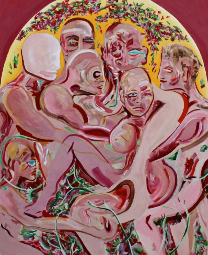 Lena Dobner - L'armour est un oiseau rebelle - 2020 - Öl und Tempera auf Leinwand - 210 x 170 cm