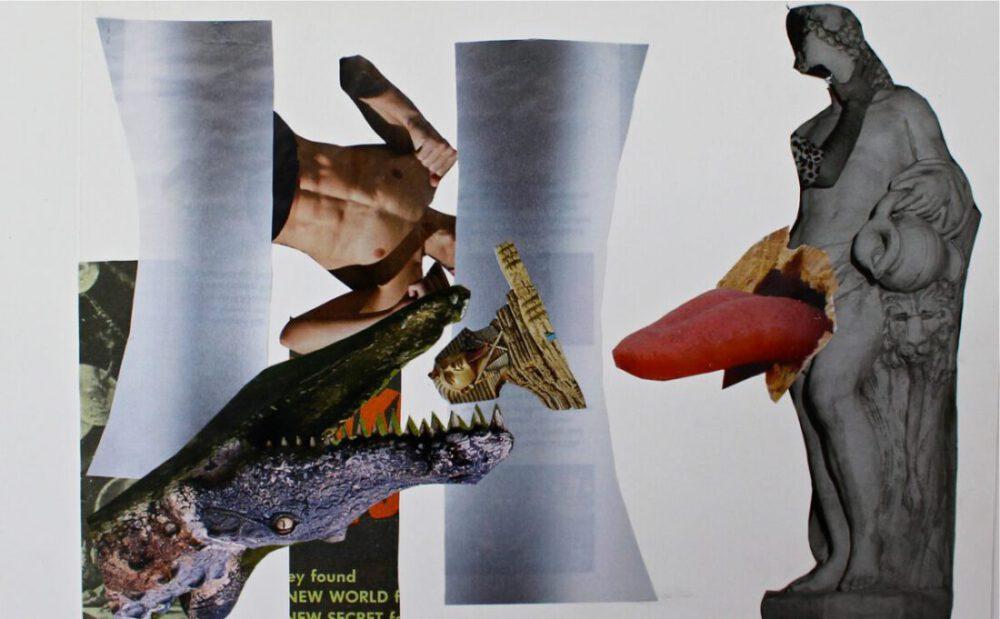 Lena Dobner - Die Zerstörung der Sphinx - 2020 - Collage - 25 x 35 cm