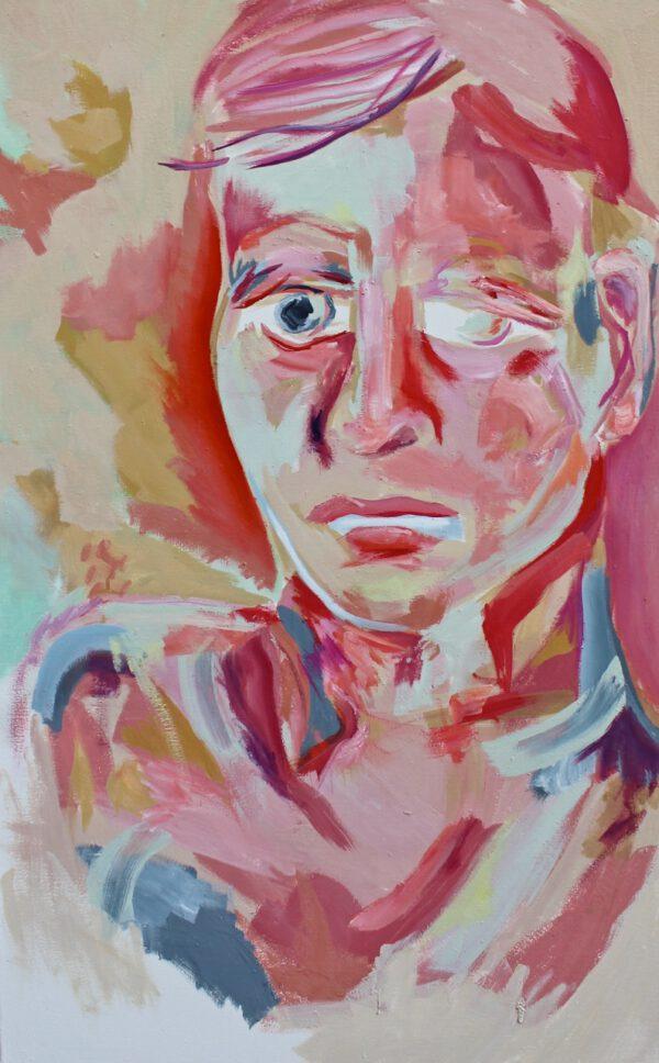 Lena Dobner - Selbstportrait - 2020 - Öl und Tempera auf Leinwand - 115 x 70 cm