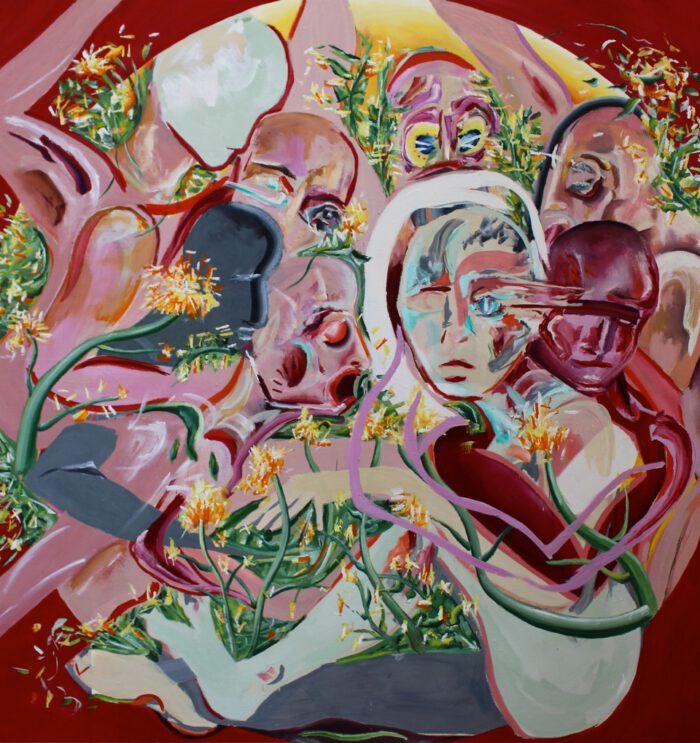 Lena Dobner - L'armour est un oiseau rebelle - 2020 - Öl und Tempera auf Leinwand - 180 x 170 cm