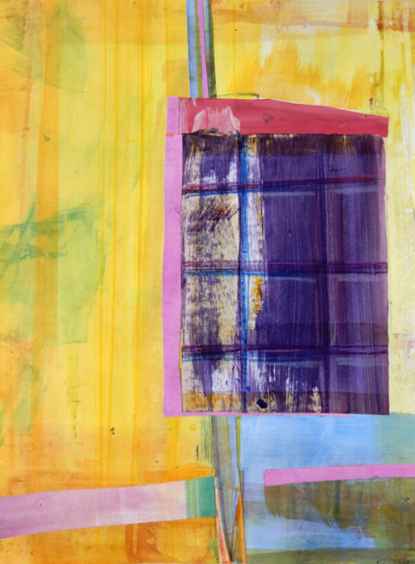 Katharina Lewonig - Farbbalancen (Serie: Farbbalancen) - 2019 - Collage aus Farbpapieren - 43 x 30 cm