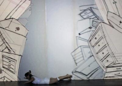 Ronja Sommer – Meme and the World – 2015 – Projection performance mit INK RIOT – Regie & Zeichnung – Dauer: 6 Min.