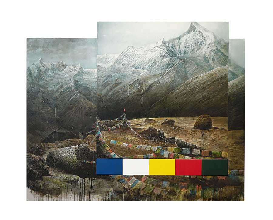 Clemens Tremmel - himālaya (2) - 2018 - Öl und Lack auf Aluminium - 150 x 215 x 5 cm