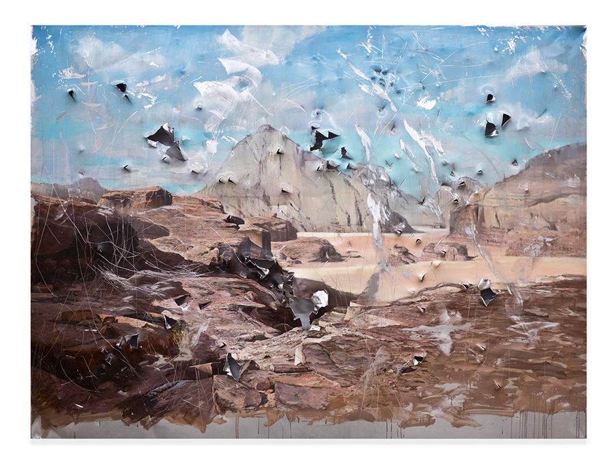 Clemens Tremmel - Die Besinnung - 2020 - Öl auf Aluminium - 150 x 200 x 5 cm