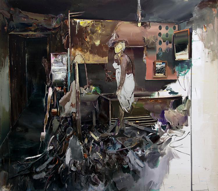 Hamid Yaraghchi - Paranoid - 2017 - Öl auf Leinwand - 220 x 250 cm