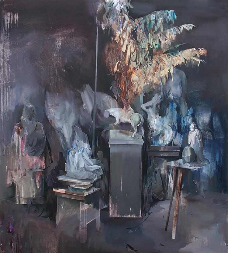 Hamid Yaraghchi - In the Basement - 2018 - Öl auf Leinwand - 200 x 180 cm