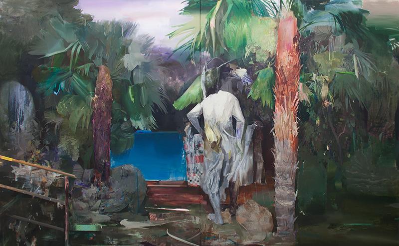 Hamid Yaraghchi - Aquaphobie - 2019 - Öl auf Leinwand - 200 x 320 cm