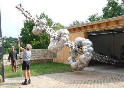 Matthias Lehmann – SWITCH – 2018 – Messing, Edelstahl, lackiert – 8,5 x 2 x 2 m – Zuschlag und Realisierung nach Kunst am Bau-Wettbewerb