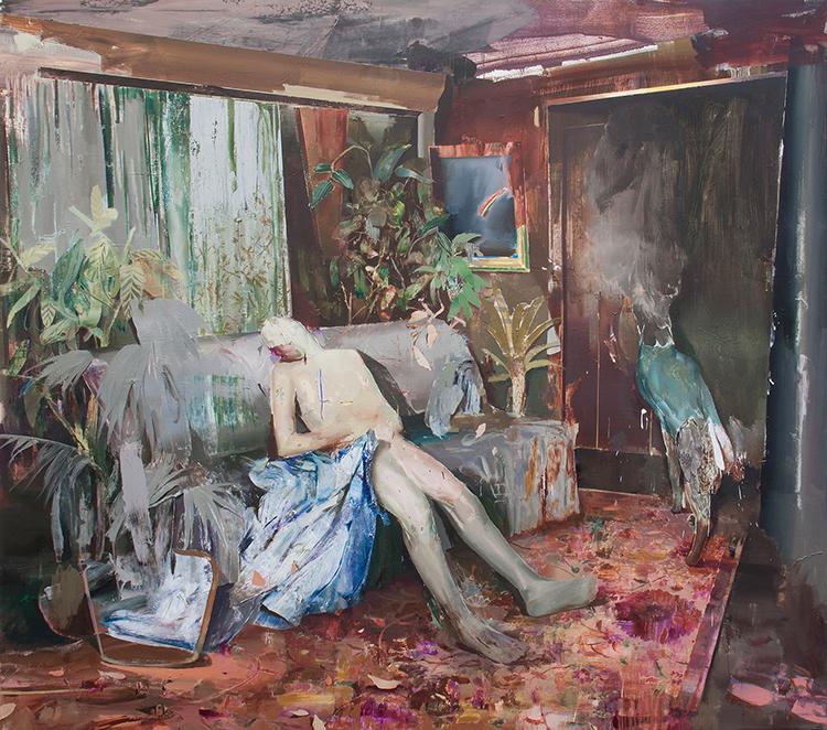 Hamid Yaraghchi - Gradual decay of being - 2019 - Öl auf Leinwand - 180 x 200 cm