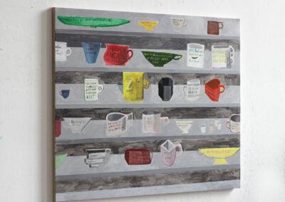 Nicolas Dupont – Alle Tassen im Schrank – 2020 – Öl auf Leinwand – 80 x 100 cm