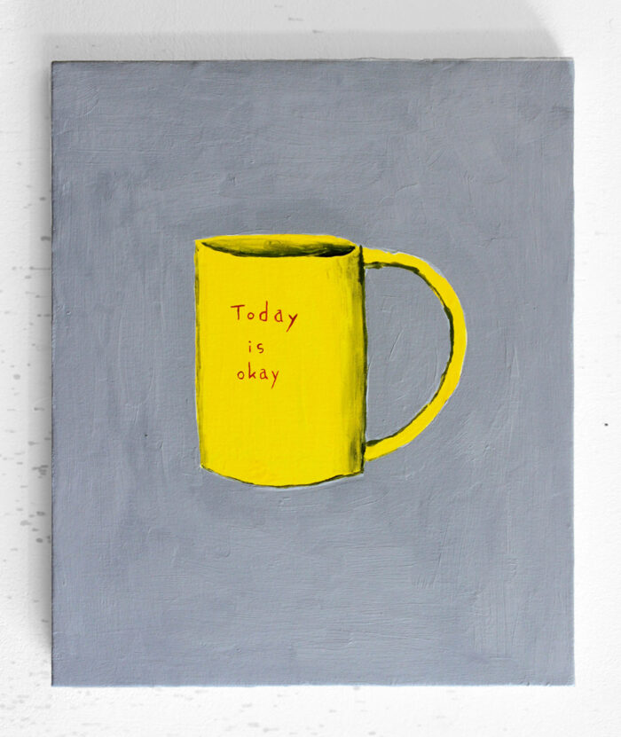 Nicolas Dupont - today is okay - 2020 - Öl auf Leinwand - 41,5 x 34,5 cm