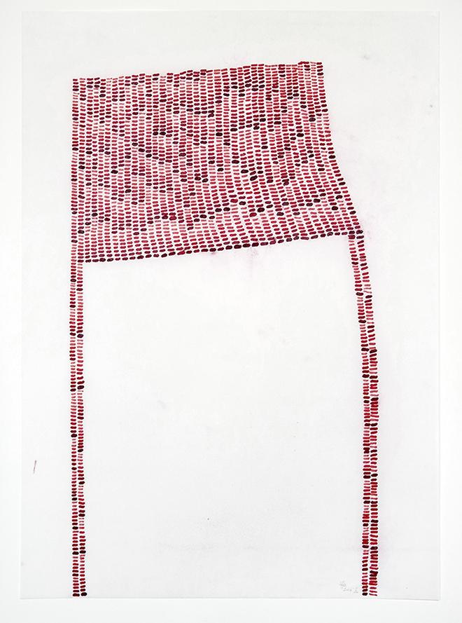Susanne Hampe - Refugium II - 2016 - Tusche auf gewachsten Papieren - 415 x 59 cm