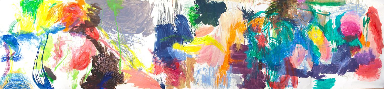 Youngmin Lee - Ohne Titel - 2019 - Öl auf Papier - 220 x 900 cm