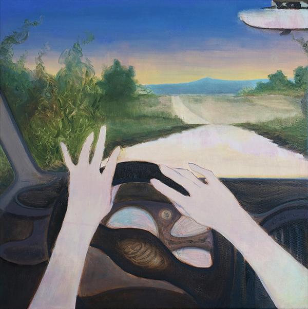 Johanna Seidel - Radio - 2020 - Öl auf Leinwand - 40 x 40 cm