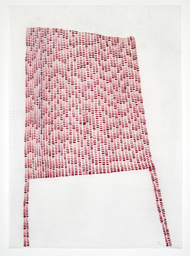 Susanne Hampe - Refugium I - 2016 - Tusche auf gewachsten Papieren - 415 x 59 cm