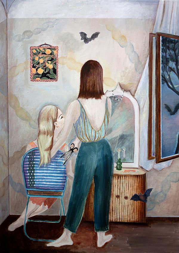 Johanna Seidel - Lydias Room - 2020 - Öl auf Leinwand - 80 x 60 cm