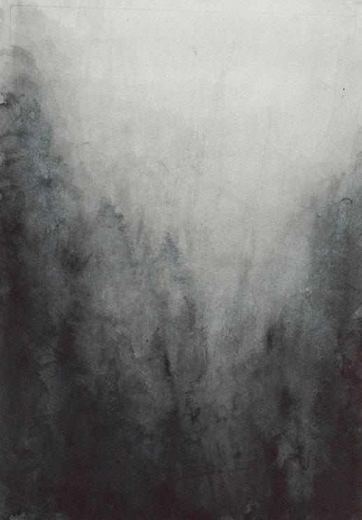 Benedikt Tammer - Intuition (Natur 2) - 2021 - Tusche auf Papier - 29 x 20 cm