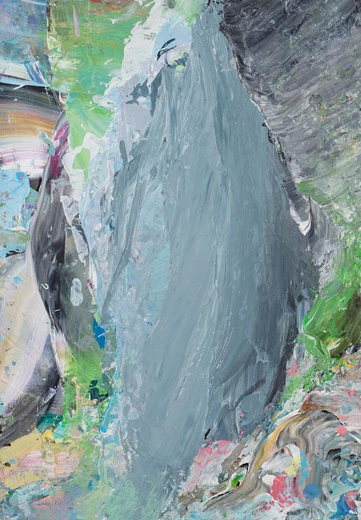 Benedikt Tammer - Intuition (Natur Abstrakt 5) - 2021 - Acryl auf Papier - 29 x 20 cm