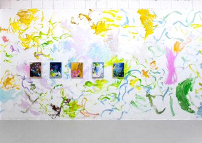 """Winnie Seifert - Ausstellungsansicht """"Mood"""" in der Galerie She BAM! - Leipzig - 2020"""