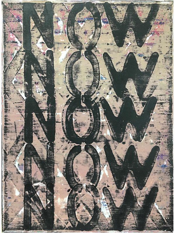 Sara Hoppe - NOW - 2021 - Acryl auf Leinwand - 60 x 45 cm