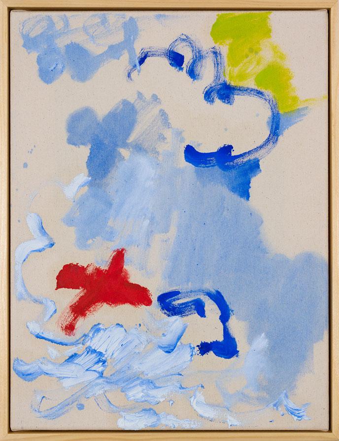 Winnie Seifert - The Hound - 2020 - Öl auf Leinwand - 41 x 31 cm