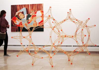 Paul Reßl – test for assembly kit III (Serie) – 2019 – 3D-Druck, Fichtenleisten – Maße variabel – Ausstellungsansicht Städische Galerie Rosenheim, 2021
